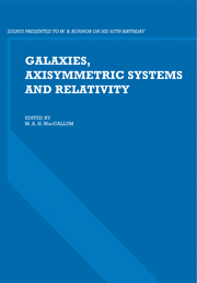 Galaxies, Axisymmetric Systems and Relativity