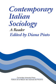 Contemporary Italian Sociology