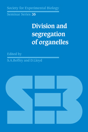 Division and Segregation of Organelles