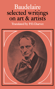Baudelaire: Selected Writings on Art and Artists