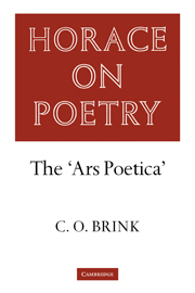 Brink: Horace on Poetry