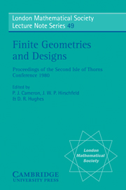 Finite Geometries and Designs