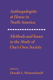 Anthropologists at Home in North America