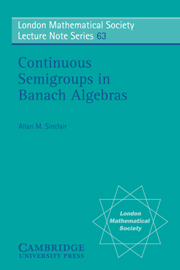 Continuous Semigroups in Banach Algebras