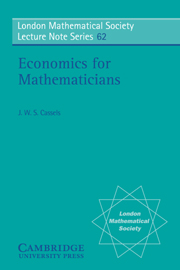 Economics for Mathematicians