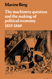 The Machinery Question and the Making of Political Economy 1815–1848