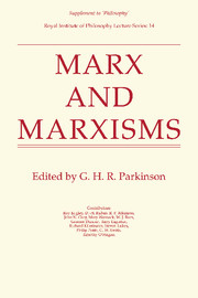 Marx and Marxisms