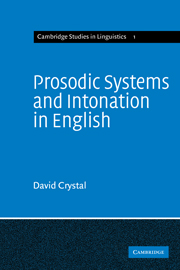Prosodic Systems and Intonation in English
