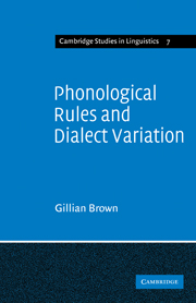 Phonological Rules and Dialect Variation