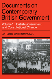 Documents on Contemporary British Government