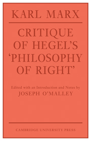 Critique of Hegel's 'Philosophy Of Right'