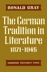 The German Tradition in Literature 1871–1945
