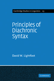 Principles of Diachronic Syntax