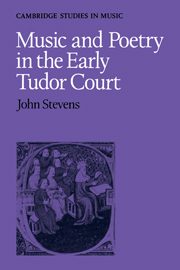 Music and Poetry in the Early Tudor Court