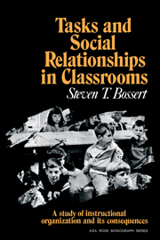 Tasks and Social Relationships in Classrooms
