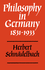 Philosophy in Germany 1831–1933