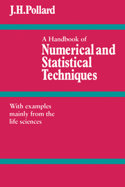 A Handbook of Numerical and Statistical Techniques