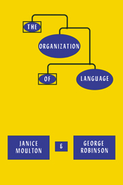 The Organization of Language