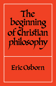 The Beginning of Christian Philosophy