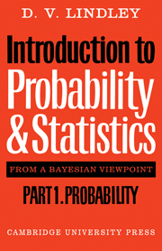 Introduction to Probability and Statistics from a Bayesian Viewpoint