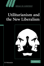 Utilitarianism and the New Liberalism