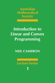 Introduction to Linear and Convex Programming