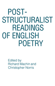 Post-structuralist Readings of English Poetry
