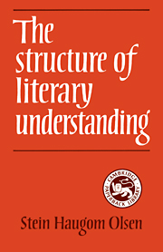 The Structure of Literary Understanding