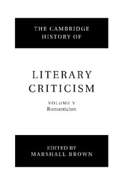 The Cambridge History of Literary Criticism