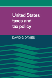 United States Taxes and Tax Policy
