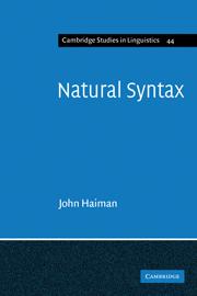 Natural Syntax