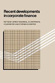 Recent Developments in Corporate Finance