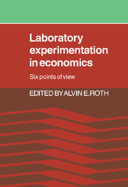 Laboratory Experimentation in Economics