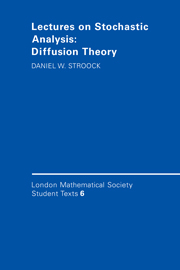 Lectures on Stochastic Analysis: Diffusion Theory