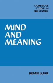 Mind and Meaning