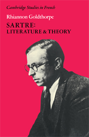 Sartre: Literature and Theory