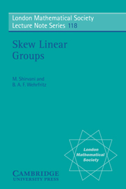 Skew Linear Groups
