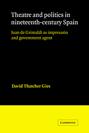 Theatre and Politics in Nineteenth-Century Spain