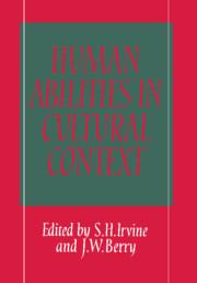 Human Abilities in Cultural Context