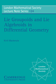 Lie Groupoids and Lie Algebroids in Differential Geometry