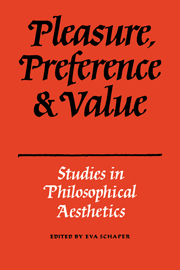 Pleasure, Preference and Value