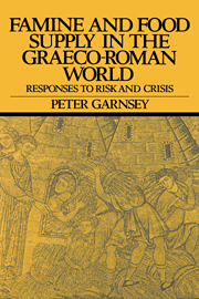 Famine and Food Supply in the Graeco-Roman World