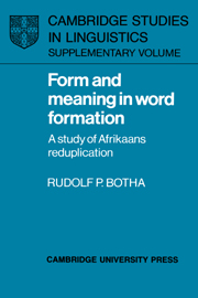 Form and Meaning in Word Formation