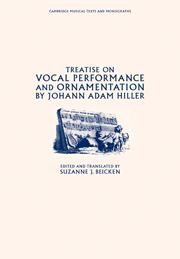 Treatise on Vocal Performance and Ornamentation by Johann Adam Hiller