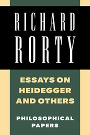 Essays on Heidegger and Others