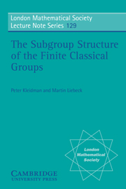 The Subgroup Structure of the Finite Classical Groups