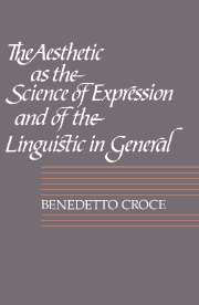 The Aesthetic as the Science of Expression and of the Linguistic in General