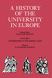 A History of the University in Europe