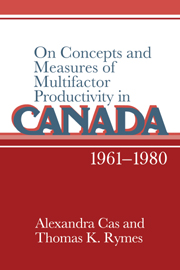 On Concepts and Measures of Multifactor Productivity in Canada, 1961–1980