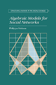 Algebraic Models for Social Networks